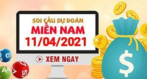 Soi cầu XSMN 11-04 - Dự đoán xổ số Miền Nam ngày 11/04/2021
