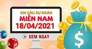 Soi cầu XSMN 18-04 - Dự đoán xổ số Miền Nam ngày 18/04/2021