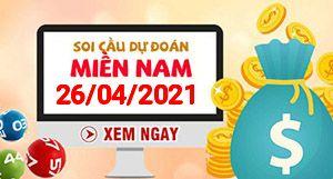 Soi cầu XSMN 26-04 - Dự đoán xổ số Miền Nam ngày 26/04/2021